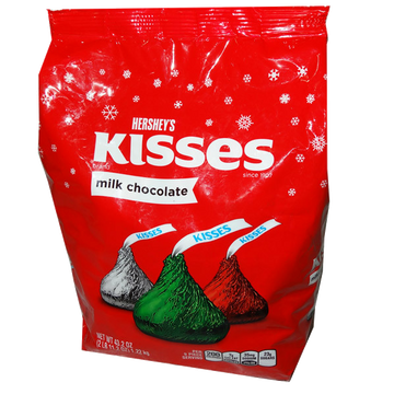 Hersheys Kisses Assortment Christmas Eddition bluk 1.02kg bag
