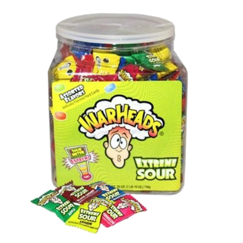 WarHeads Extreme Sour bulk 240 bucket -Impact confections