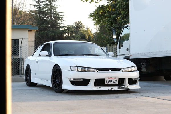 Nissan S14 Kouki 240sx On Ambit Wheels Re02 17x9 15 5x114 3