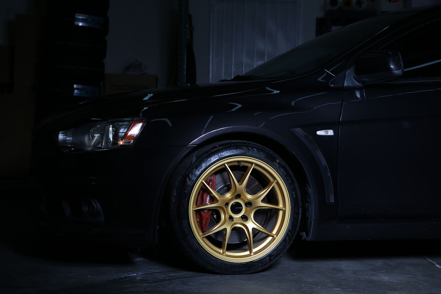Mitsubishi Evo X Wheel Fitment - Doss Wheels 18x9.5 +20