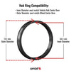 Hub-Centric Rings - Polycarbonate | Tesla Model 3 (73.1-64.1mm)