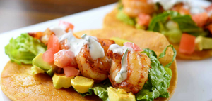 Cinco de Taco!  Shrimp Tacos with Cilantro Lime Sour Cream