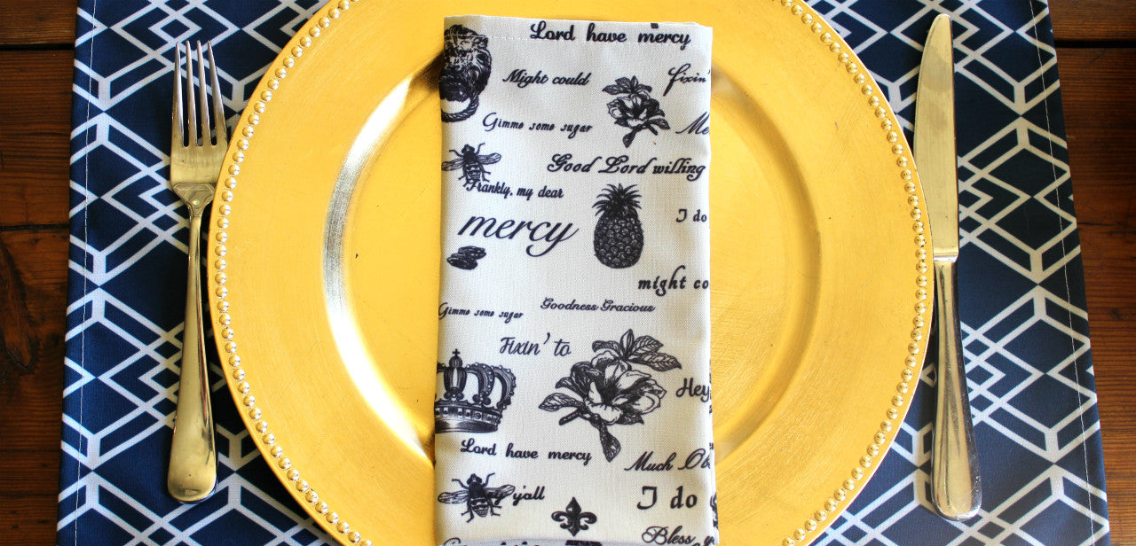 Table Manners no. 2: Napkin Navigation