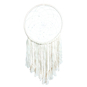 Large White Sun Dreamcatcher