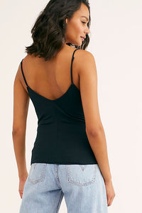 Disco Day Solid Cami - Black