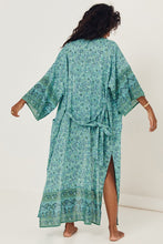 Load image into Gallery viewer, Sundown Maxi Robe - Turquoise