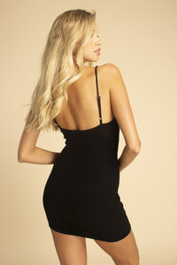 Tie Front Cami Dress - Black