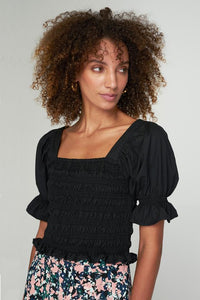 Isla Shirt Top - Black