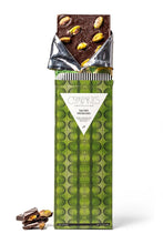 Load image into Gallery viewer, Salted Pistachio Dark Chocolate Bar - (Available ONLY for PICKUP or LOCAL DELIVERY)