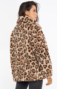Cordelia Jacket - Leopard Faux Fleece