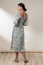 Load image into Gallery viewer, Elyse Shirred Maxi Dress - Ink Haze