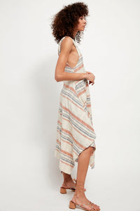 Harper Stripped Maxi - Natural Combo