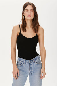 Ribbed Lia Cami - Black