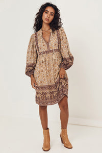 Sundown Boho Mini Dress - Spice