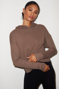 Raven Waffle Hoodie - Taupe