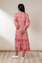 Load image into Gallery viewer, Sadie Tiered Maxi Dress - Chilli Mawar