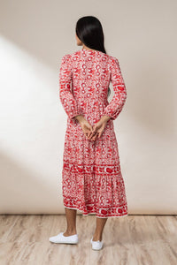 Sadie Tiered Maxi Dress - Chilli Mawar