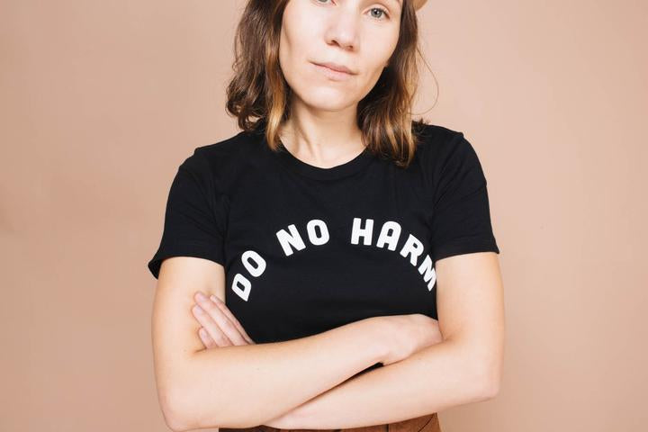 Do No Harm But Take No Shit Tee - Black