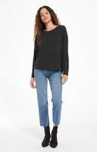 Billie Speckle Tee - Black