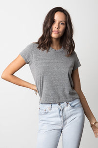 Baby Tee - Heather Grey