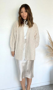 Cadelle Heathered Cocoon Cardi - Heathered Oatmeal