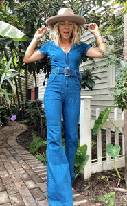 Heartland Jumpsuit - Braided True Blue