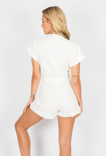 Load image into Gallery viewer, Tailored Romper - White