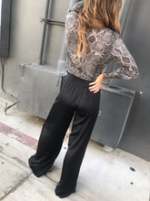Load image into Gallery viewer, The Sunset Wide Leg Pant - Black