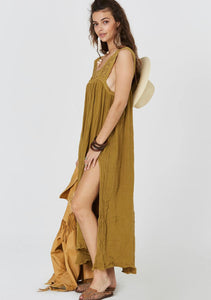 Queen Anne Maxi Dress- Olive
