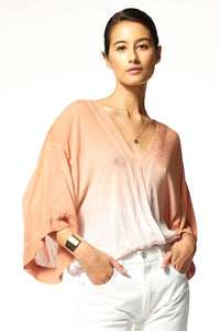 Tia Top - Pink Silver Ombre