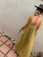 Load image into Gallery viewer, Queen Anne Maxi Dress- Olive