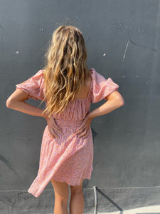 Rae Mini Dress - Dusty Pink