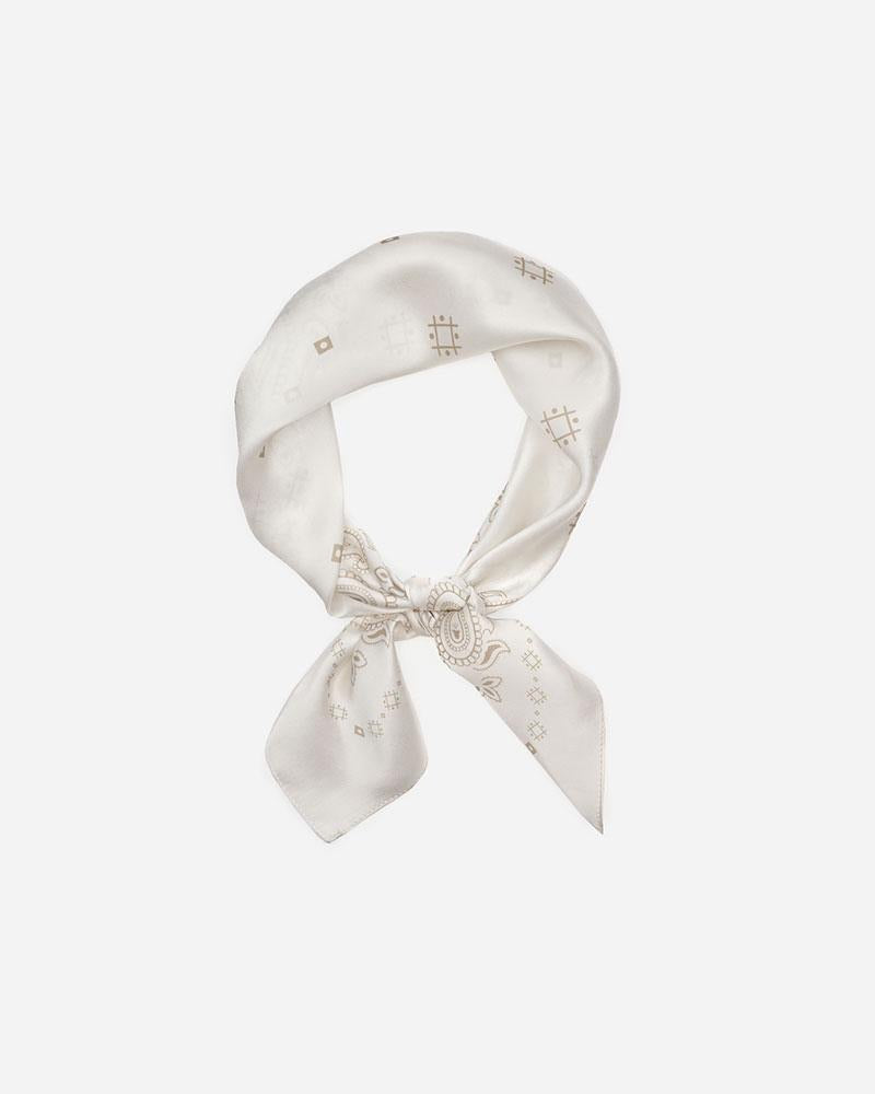 The Western - Ivory | Square Silk Scarf Bandana