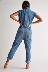 Sydney Coverall - Breezy Blue