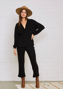 Rib Sweater Dionne Pant - Black
