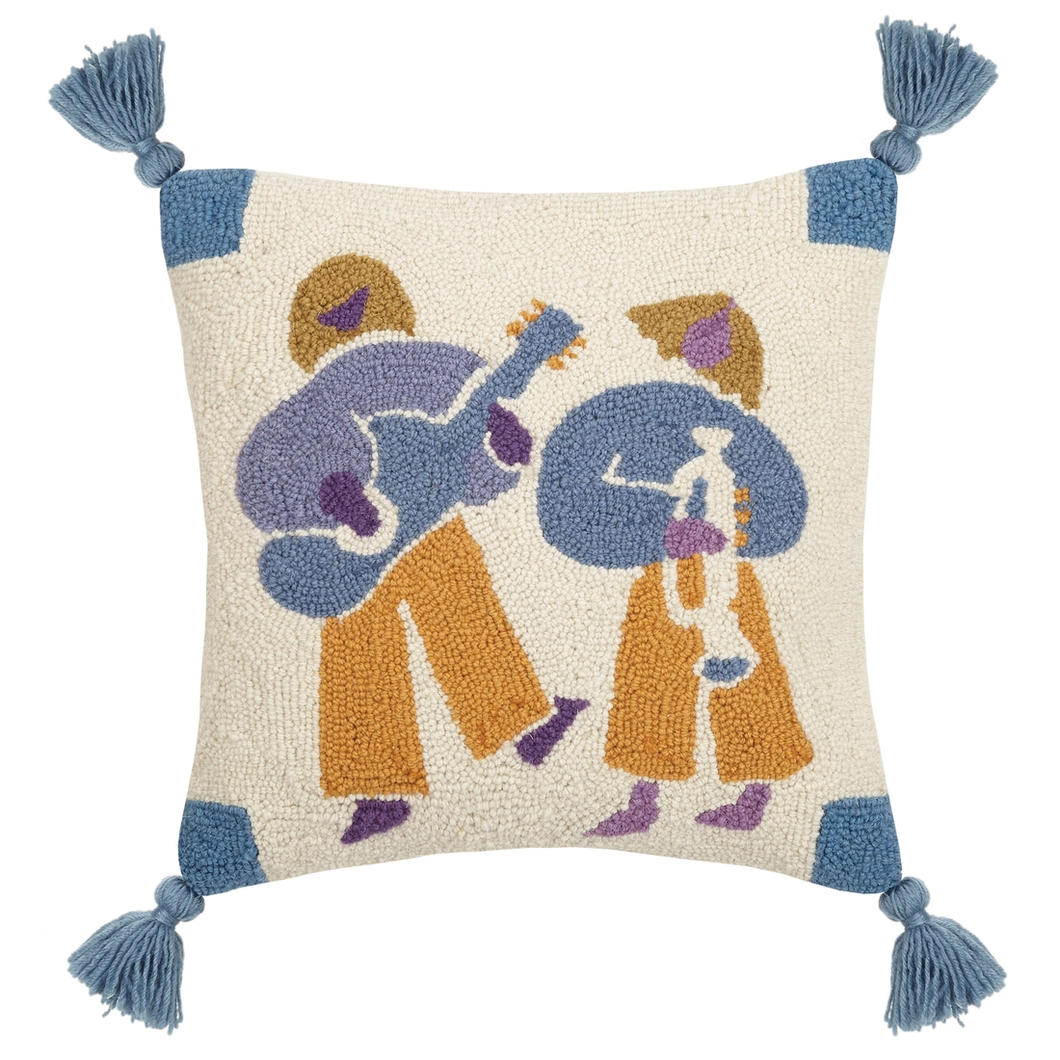 Jams With Tassels Hook Pillow
