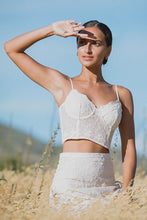 Load image into Gallery viewer, Le Gauze Lace Bustier - Off White