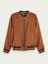 Load image into Gallery viewer, Reversible Printed Bomber Jacket
