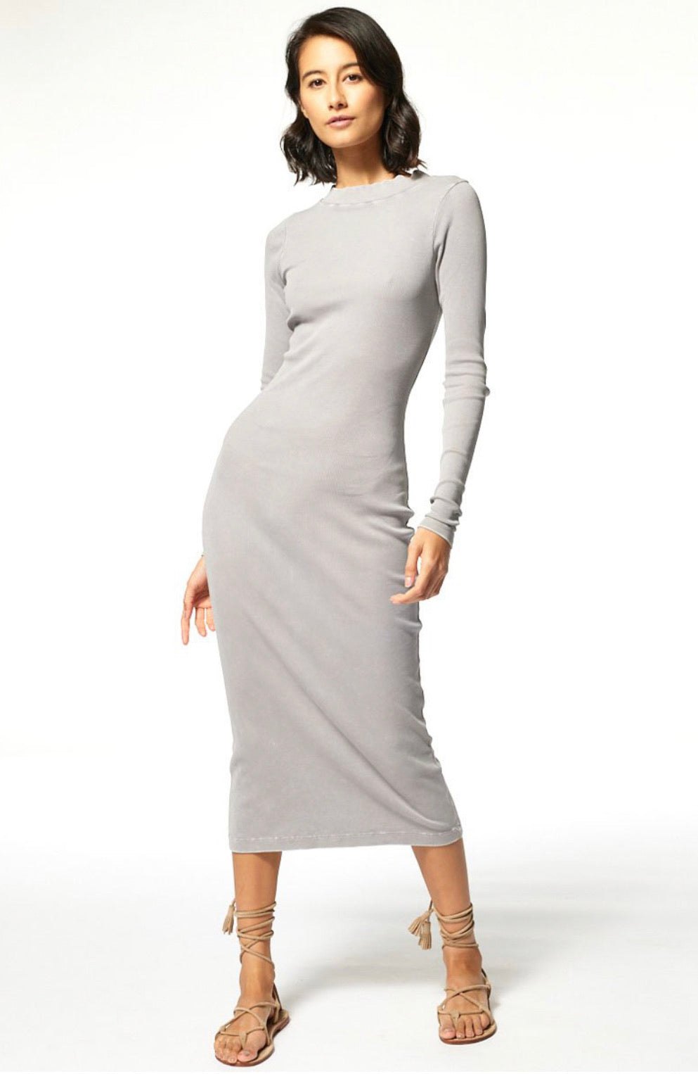 Dax Dress - Moon Rock Mineral Wash
