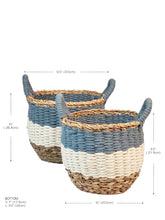 Load image into Gallery viewer, Large Ula Stripe Basket - Blue