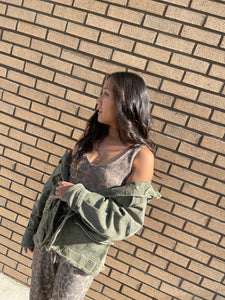 Harley Military Shirt Jacket - Army