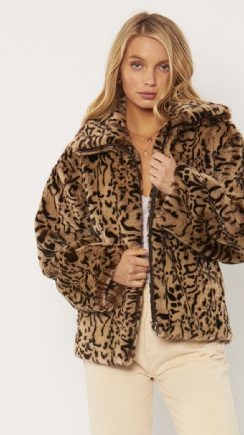 Badlands Woven Faux Fur Jacket