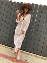 Load image into Gallery viewer, Flavia Long Shirt Dress - White