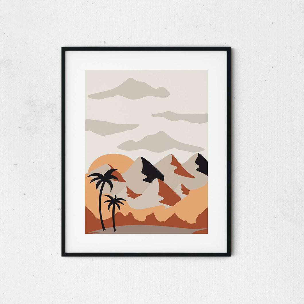Abstract Mountains Boho Print
