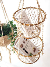 Load image into Gallery viewer, Jhuri Double Hanging Basket