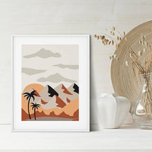 Load image into Gallery viewer, Abstract Mountains Boho Print