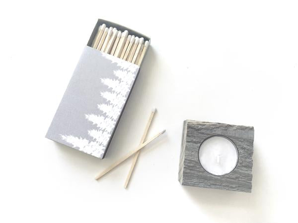White Forest Large Matchbox - Natural