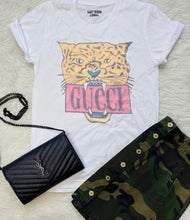 Load image into Gallery viewer, Gucci Cheetah Graphic Vintage Feel T-Shirt