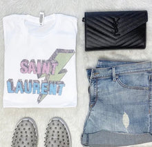 Load image into Gallery viewer, Lighting Bold Saint Laurent Graphic Vintage Feel T-Shirt