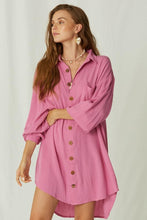 Load image into Gallery viewer, Ipanema Mini Shirt Dress - Wild Orchid